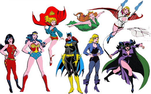 At least four of the female characters are household names even to non comic book fans.