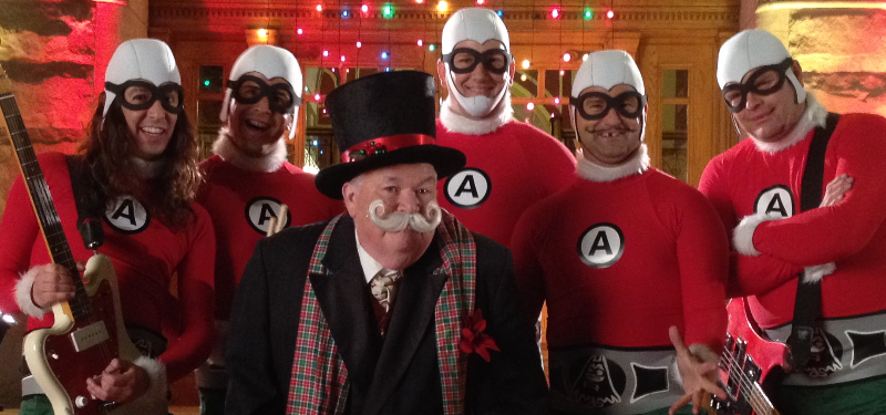 Aquabats Christmas Banner