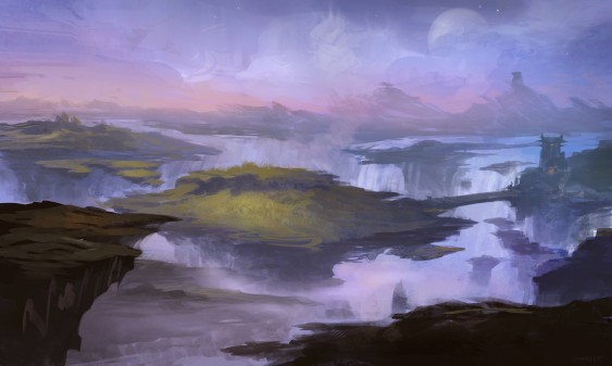 A sketch of the Nagrand from the Warlords of Draenor expansion. Courtesy of Blizzard Entertainment