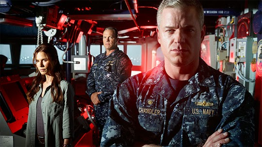 Eric Dane, Rhona Mitra and Adam Baldwin in TNT's The Last Ship.