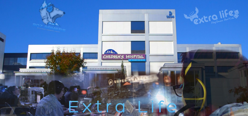 907 gamers extra life banner
